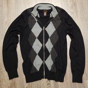Dockers Slim Fit full zip argyle sweater
